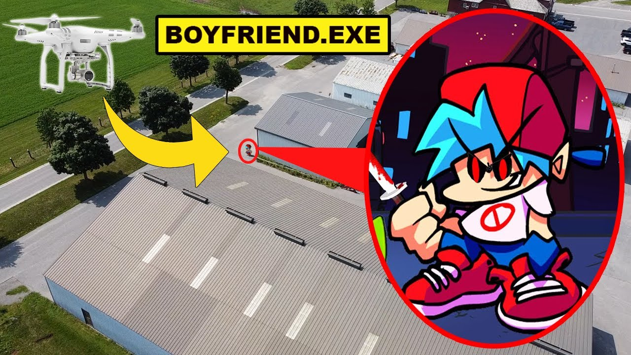 DRONE CATCHES BOYFRIEND.EXE FROM FRIDAY NIGHT FUNKIN | BOYFRIEND.EXE FROM FRIDAY NIGHT FUNKIN CAUGHT