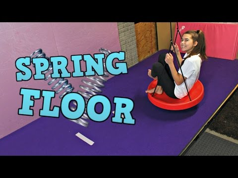 At Home Cheer Room Tour: INDOOR SPRING FLOOR