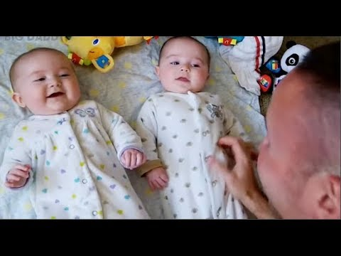Cute Daddies And Twins Babies Moments -  Daddy And Baby Funny Videos Compilation 2019