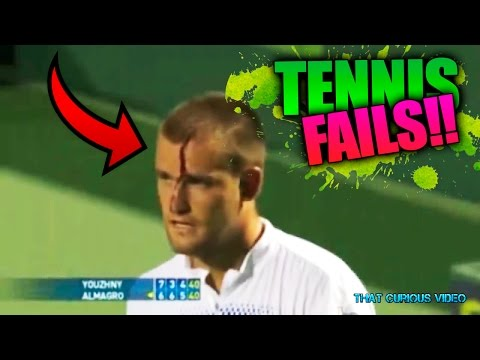 FAILS y Momentos Graciosos en el TENIS   Tennis Fails and Funny moments