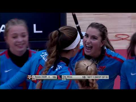 Texas A&M Vs Ole Miss Volleyball (Oct 23) 2020 NCAA College Womens Volleyball