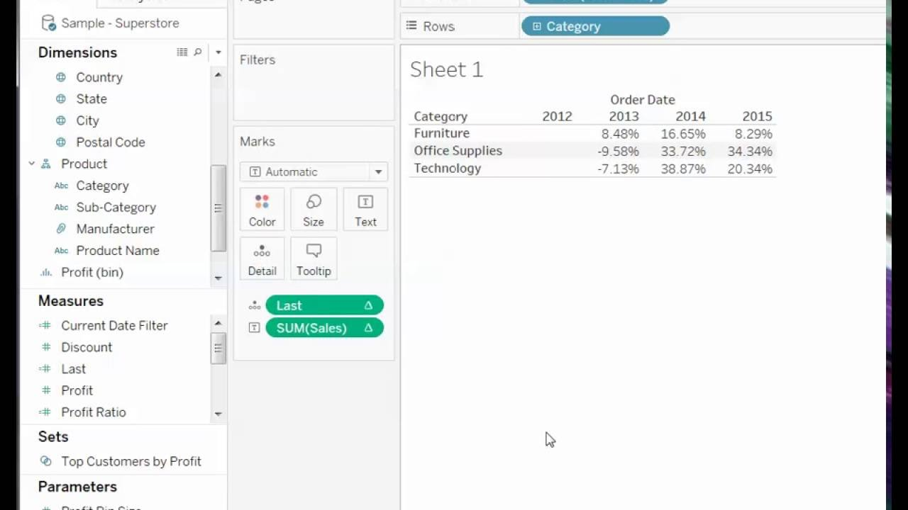 How to Hide Columns Without Filtering Underlying Data in Tableau