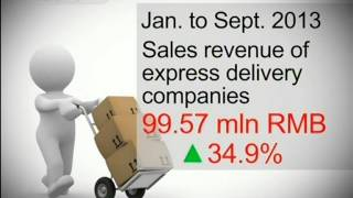 Delivery market booms in China due to e commerce