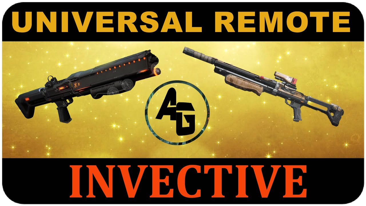 Destiny UNIVERSAL REMOTE vs INVECTIVE Exotic Shotgun WE ...