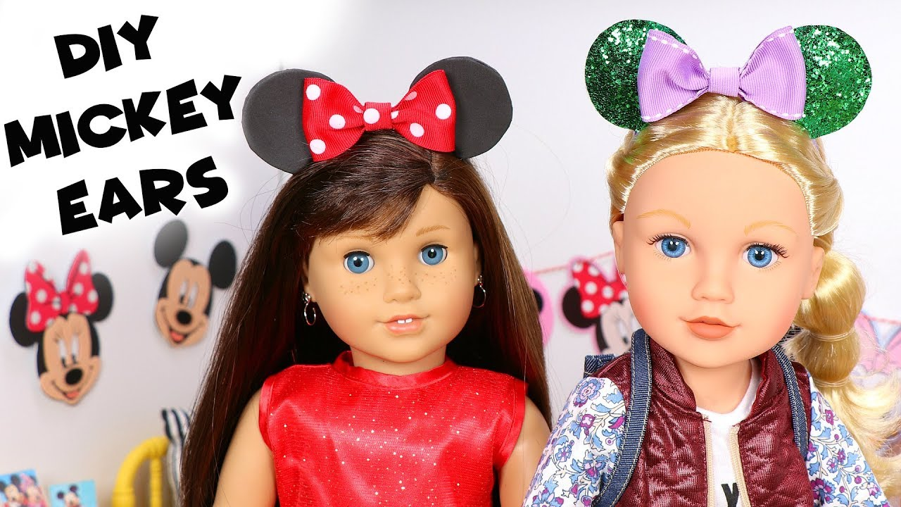 diy american girl doll mickey mouse ears hat youtube