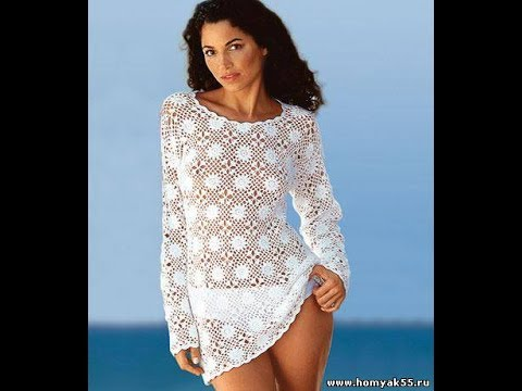 4716dc40184 Пляжная Туника Крючком из Мотивов 2019  Beach Tunic Crochet from Motives   Strand-Tunika Motive