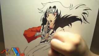 Dibujando a: Kurenai (Naruto)