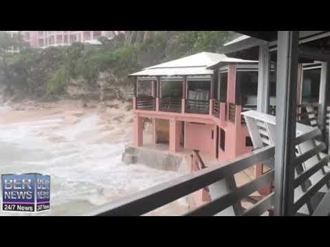 Waves Crashing As Hurricane Teddy Approaches, Sept 21, 2020
