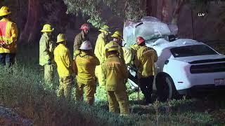 Dodge Challenger Driver Dies in Crash / Carson CA  9.19.20