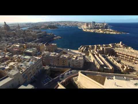 Maiden drone flight: Valletta | Malta