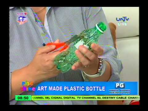 Plastic bottle artwork