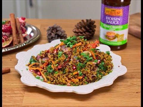 Moroccan Quinoa Salad With Lime Cilantro Flavored Hoisin Sauce