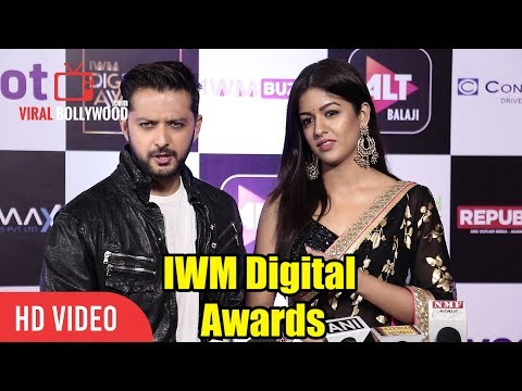 Vatsal Sheth And Ishita Dutta At IWM Digital Awards   ALT Balaji