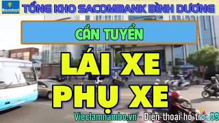 Sacombank tuyển Lái xe, Phụ xe