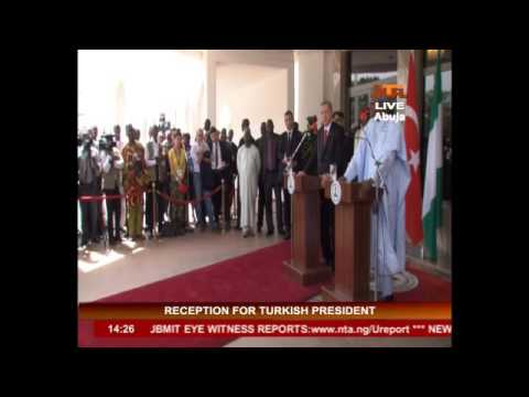 Pres. Buhari receives Presi. of the Republic of Turkey, Tayyip Erdogan @  Statehouse