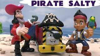 Thomas and Friends Play Doh Disney Jake and the Pirates Trackmaster Talking Salty Pirate Playdough