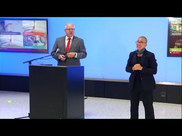 WATCH LIVE: Gov. Tim Walz highlights COVID-19