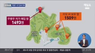 내꺼인듯 내꺼아닌 내 땅, 우병우 '차명 땅' 의혹