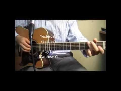 Yesterday - Beatles - Easy Chords with Acoustic guitar cover