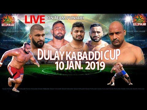 LIVE- Dulay Kabaddi Cup 10 Jan 2019| TeamPunjabi.Tv