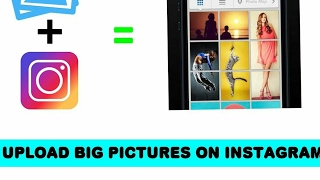 How to upload big pictures on Instagram,facebook,tiwtter  Giant Square