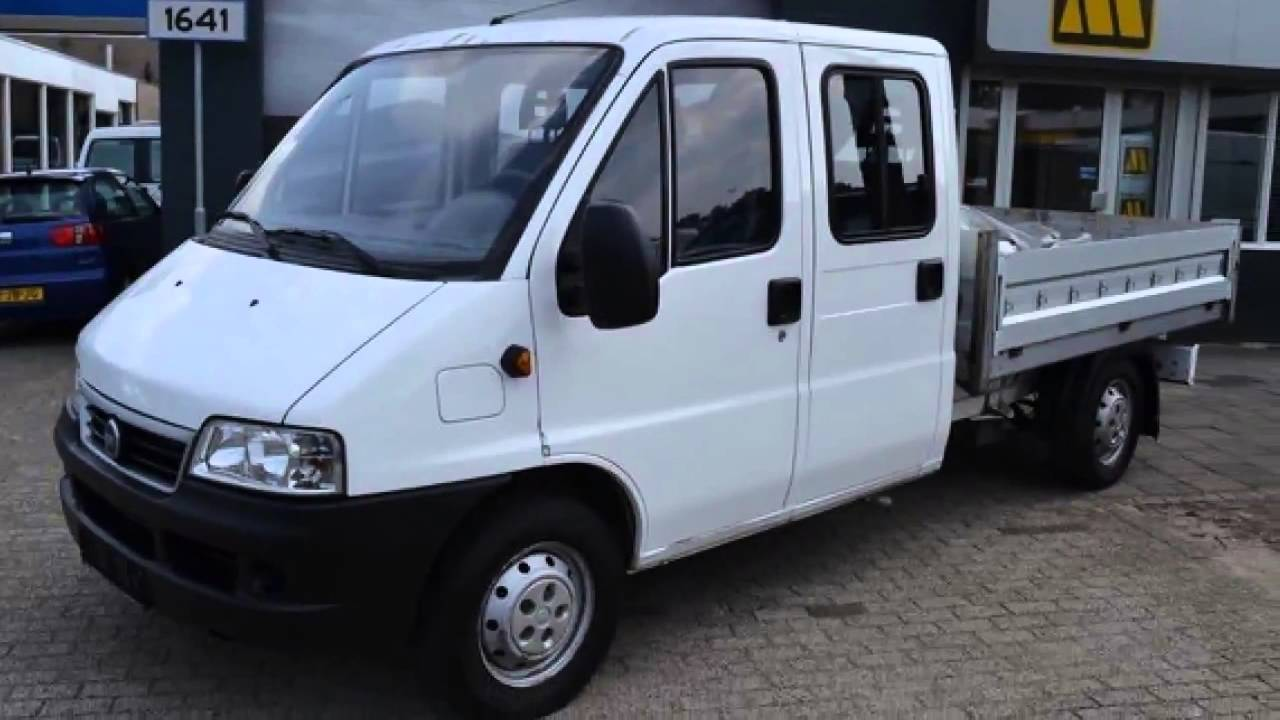 fiat ducato 2 8 jtd 4x4 dubbele cabine 93kw 4950 youtube. Black Bedroom Furniture Sets. Home Design Ideas
