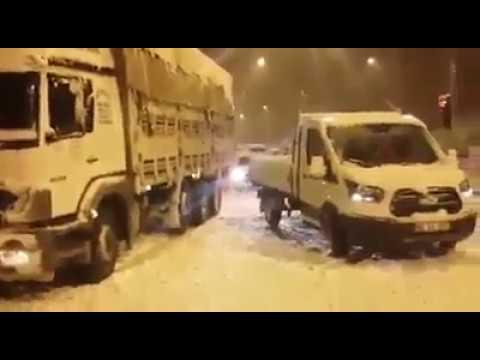 Kahramanmaraş-Göksun'da kar yağışı!...