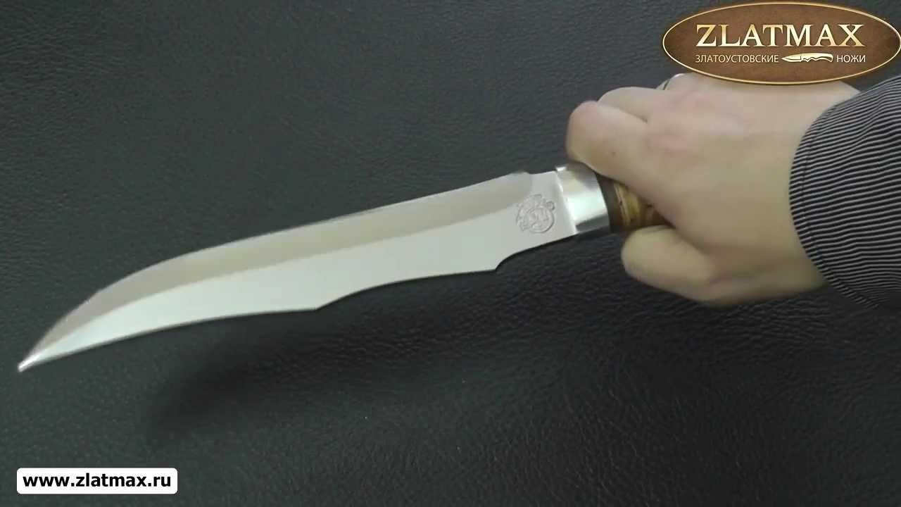 Видео Нож охотничий НС-35 (40Х10С2М, Наборная береста, Алюминий)