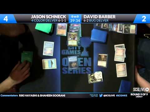 SCGMKE - Legacy - Round 9 - David Barber vs Jason Schneck