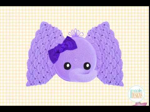 Elephant Pillow Crochet Pattern by IraRott