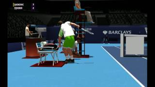 Djokovic vs Federer |  World Tour Atp Finals 2012 | Full Ace Tennis Simulator 2012