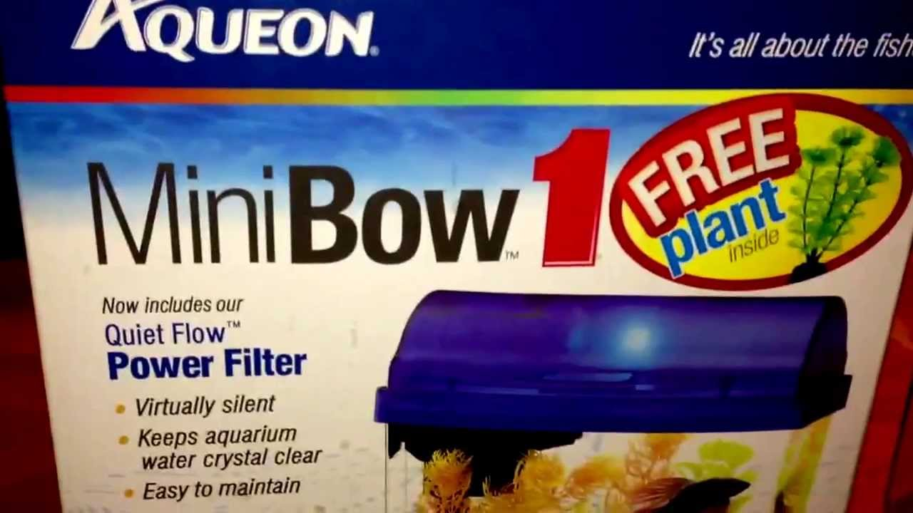 Aqueon Mini Bow Freshwater Aquarium Part 1 - YouTube 95b589197001