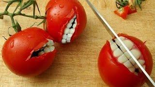 """Классневая закуска""""Кайфша"""" из помидор (рецепт, пародия от Глафиры Абрамовны Зожнутой)"""