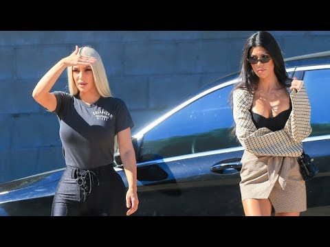 Kim Kardashian Feeling Sexy In Spandex While X-Mas Tree Shopping With Kourtney