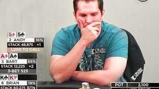 Bart Hanson Plays High Stakes $25-50 on Live at the Bike!
