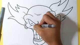 cómo dibujar un payaso Hardcore Graffiti | Wizard art - | ZaXx