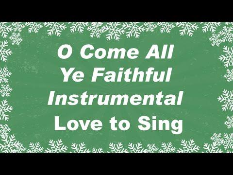 O Come All Ye Faithful Christmas Instrumental Music  with Lyrics | Christmas Carol Karaoke Song