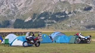 Gran Sasso Campo imperatore Abruzzo campeggio R1200GS Adventure