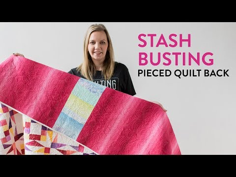 How To Make A Pieced Quilt Back (Stashbusting Idea!) | Midnight Quilt Show Twinkling Twilight Quilt