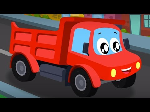 Little Red Car | Dump Truck Is Working | Children Nursery Rhymes For Kids And Babies