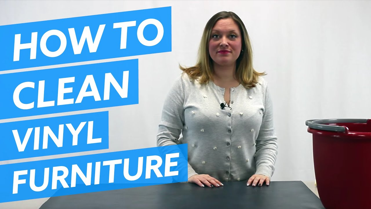 How To Clean Your Vinyl Office Furniture Youtube