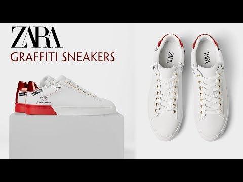 Zara Man - Giầy Sneaker Họa Tiết - Graffiti Sneaker - Giá 650.000 VND