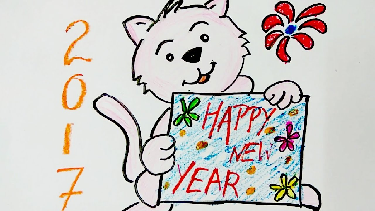New year greeting card diy new year wish greeting card drawing for new year greeting card diy new year wish greeting card drawing for kids m4hsunfo