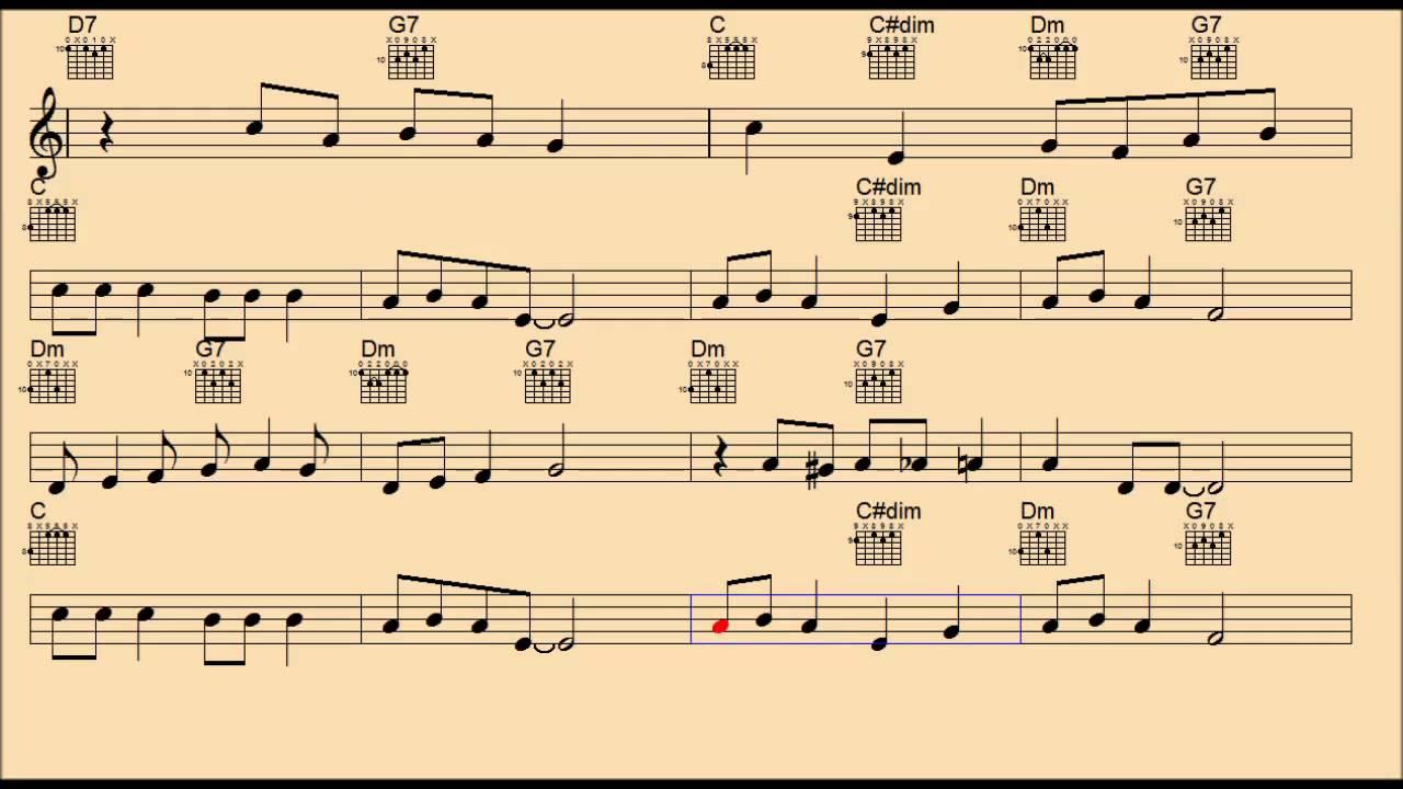 Jingle Bell Rock Backing Trackguitar Chordslead Sheet Youtube