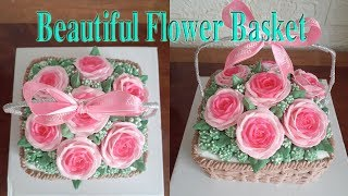 Amazing Cake│ Decorate Beautiful Flower Basket Cake│79│Bánh kem giỏ hoa đẹp│Baotram Ice Cake