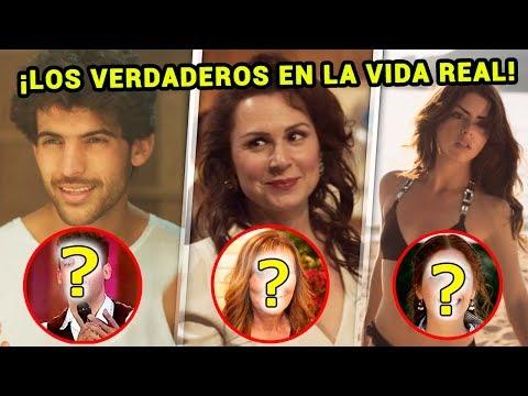 """Estos son Bosco, Cynthia Casas, Adela y Fede en la vida real - Serie """"Luis Miguel"""""""
