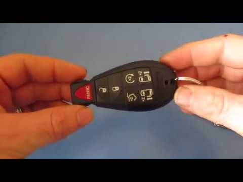 How To Replace Chrysler Town & Country Key Fob Battery DIY 2008 2009 2010 2011 2012 2013 2014 2015