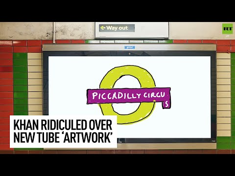 New Piccadilly Circus tube sign ridiculed for resembling children's drawing