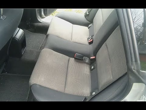 Subaru  Outback 05 - 09. Rear Seat Cushion removal.
