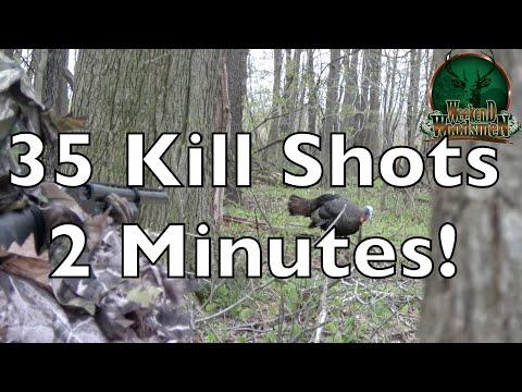 Turkey Hunting kill shots | Action packed